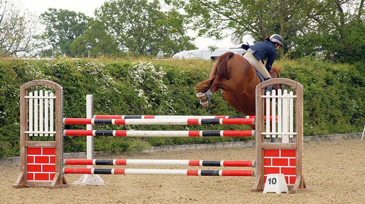 Beaucoup de cavaliers ont tendance à être trop en avant lors de la phase descendante et mènent malgré eux leur cheval à la faute.