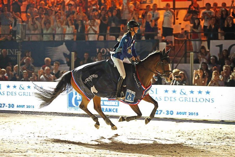 Pénélope Leprevost après sa victoire - © Page facebook officielle