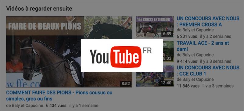 passe-temps des cavaliers sur le net : youtube