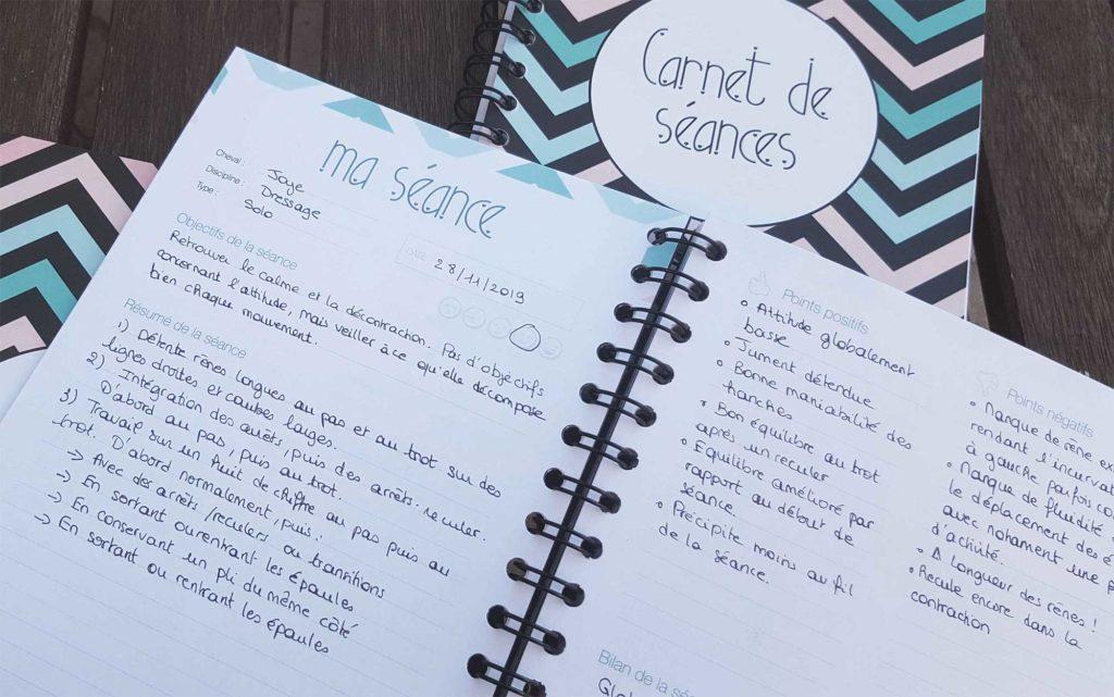 carnet de séances - pages intérieures