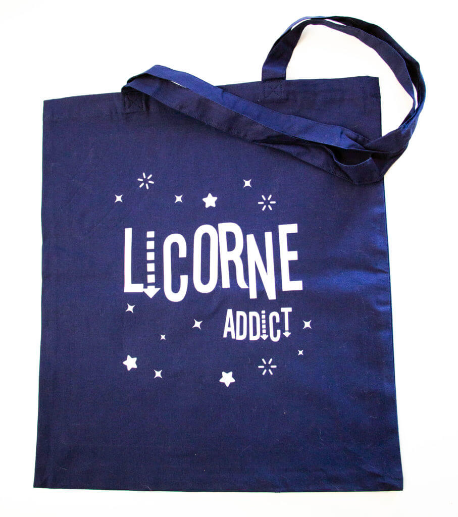 tote bag cheval licorne addict