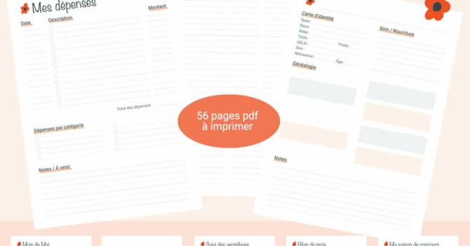 planner équestre printable