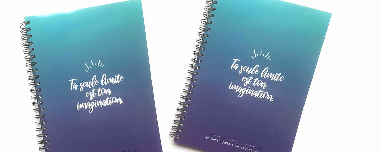 cahier ta seule limite est ton imagination